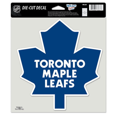 Toronto Maple Leafs Full Color Car Window Sticker Decal 8x8 Inches