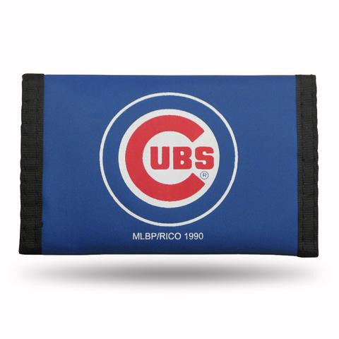 Chicago Cubs Nylon Velcro Trifold Wallet Brand New