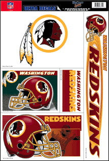 Washington Redskins Decals Window Clings
