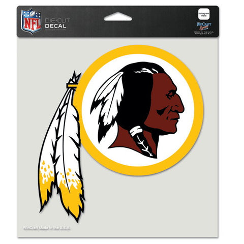 Washington Redskins Full Color Car Window Sticker Decal 8x8 Inches