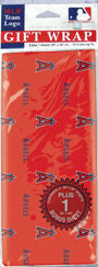 Anaheim Angels Wrapping Paper 20 Square Foot Flat Pack