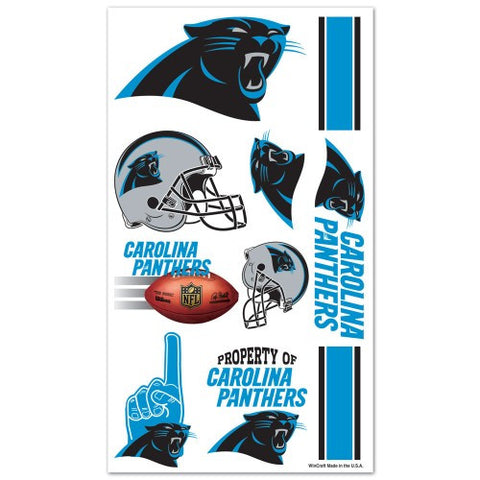 Carolina Panthers Temporary Tattoo