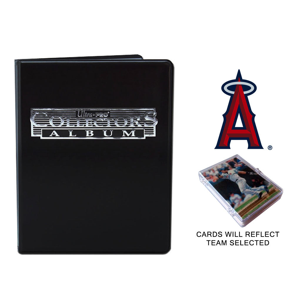 Anaheim Angels Baseball Cards w/ Collector's Mini Binder & Pages