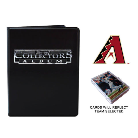 Arizona Diamondbacks Baseball Cards w/ Collector's Mini Binder & Pages
