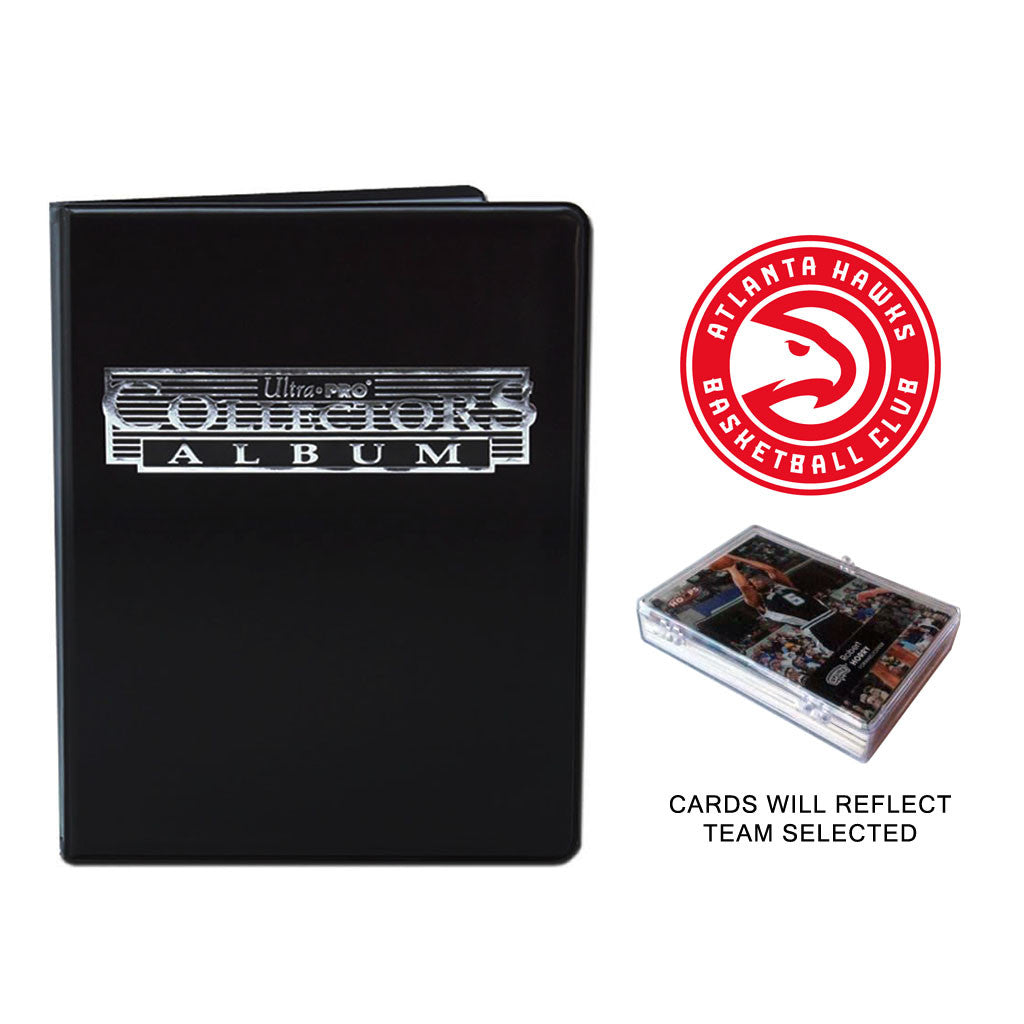 Atlanta Hawks Basketball Cards w/ Collector's Mini Binder & Pages