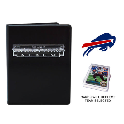 Buffalo Bills Football Cards w/ Collector's Mini Binder & Pages