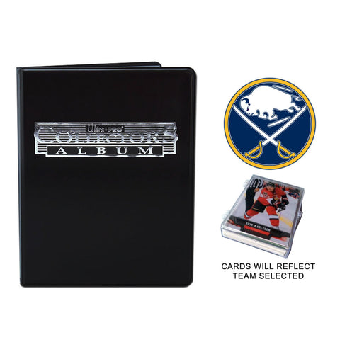 Buffalo Sabres Hockey Cards w/ Collector's Mini Binder & Pages