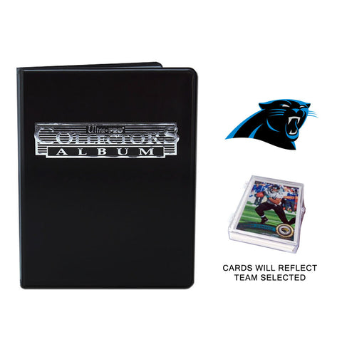 Carolina Panthers Football Cards w/ Collector's Mini Binder & Pages