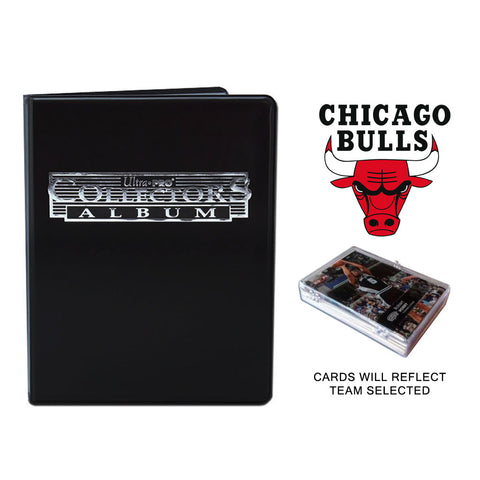 Chicago Bulls Basketball Cards w/ Collector's Mini Binder & Pages