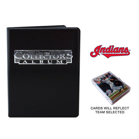 Cleveland Indians Baseball Cards w/ Collector's Mini Binder & Pages
