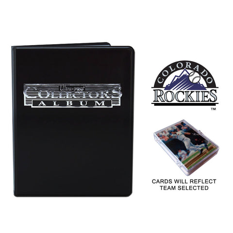 Colorado Rockies Baseball Cards w/ Collector's Mini Binder & Pages
