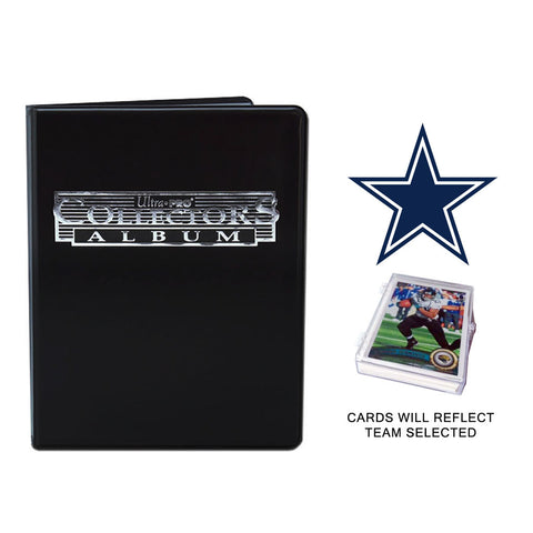 Dallas Cowboys Football Cards w/ Collector's Mini Binder & Pages