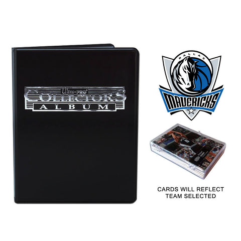 Dallas Mavericks Basketball Cards w/ Collector's Mini Binder & Pages
