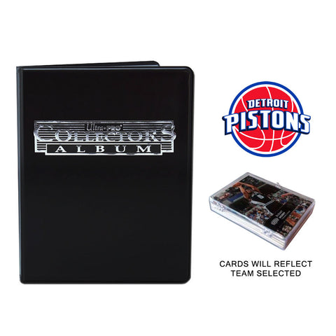 Detroit Pistons Basketball Cards w/ Collector's Mini Binder & Pages