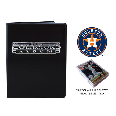 Houston Astros Baseball Cards w/ Collector's Mini Binder & Pages
