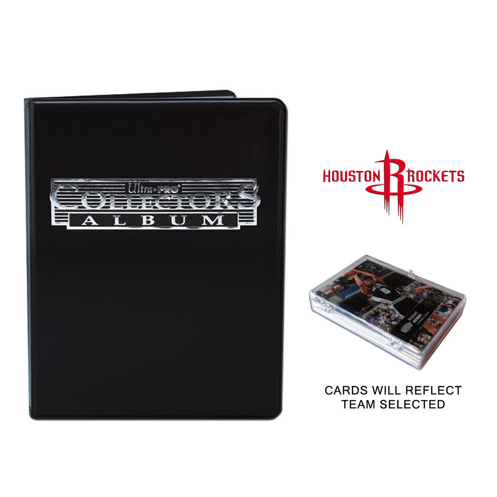 Houston Rockets Basketball Cards w/ Collector's Mini Binder & Pages