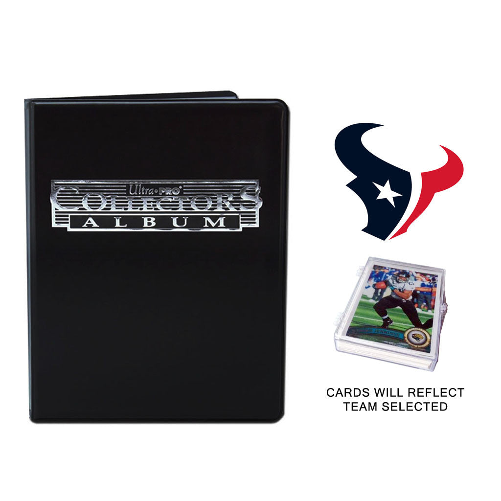Houston Texans Football Cards w/ Collector's Mini Binder & Pages