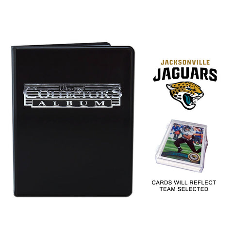 Jacksonville Jaguars Football Cards w/ Collector's Mini Binder & Pages