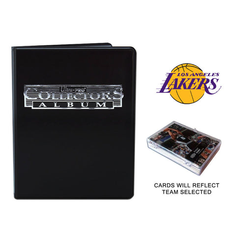 Los Angeles Lakers Basketball Cards w/ Collector's Mini Binder & Pages