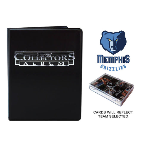 Memphis Grizzlies Basketball Cards w/ Collector's Mini Binder & Pages