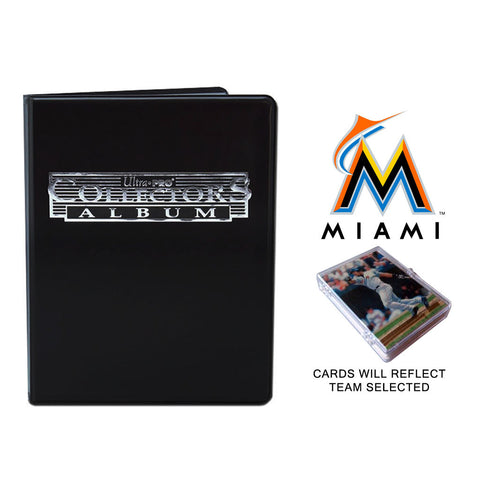 Miami Marlins Baseball Cards w/ Collector's Mini Binder & Pages