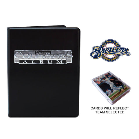 Milwaukee Brewers Baseball Cards w/ Collector's Mini Binder & Pages