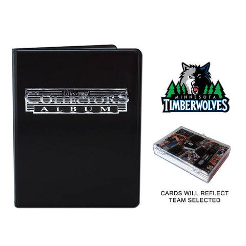 Minnesota Timberwolves Basketball Cards w/ Collector's Mini Binder & Pages