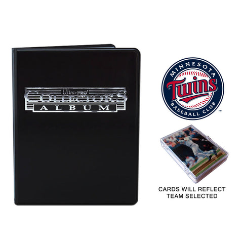Minnesota Twins Baseball Cards w/ Collector's Mini Binder & Pages