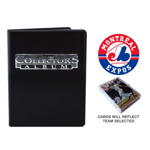 Montreal Expos Baseball Cards w/ Collector's Mini Binder & Pages