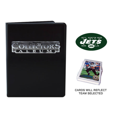 New York Jets Football Cards w/ Collector's Mini Binder & Pages