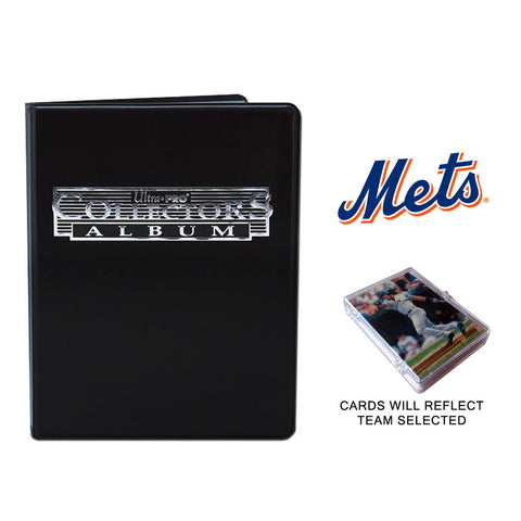 New York Mets Baseball Cards w/ Collector's Mini Binder & Pages