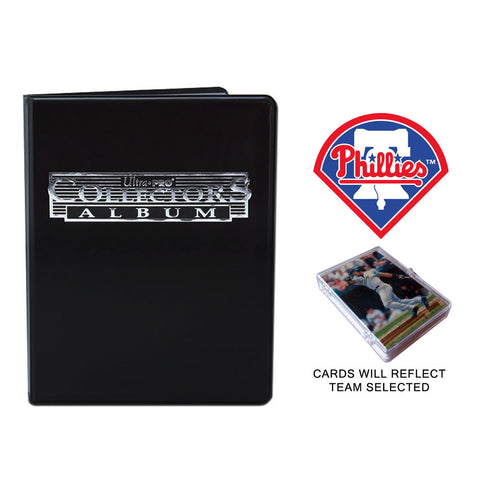Philadelphia Phillies Baseball Cards w/ Collector's Mini Binder & Pages