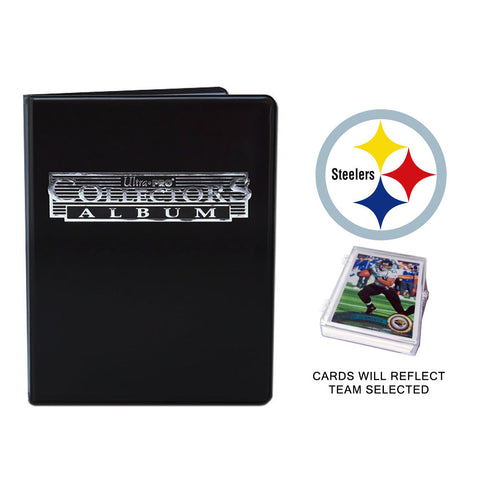 Pittsburgh Steelers Football Cards w/ Collector's Mini Binder & Pages