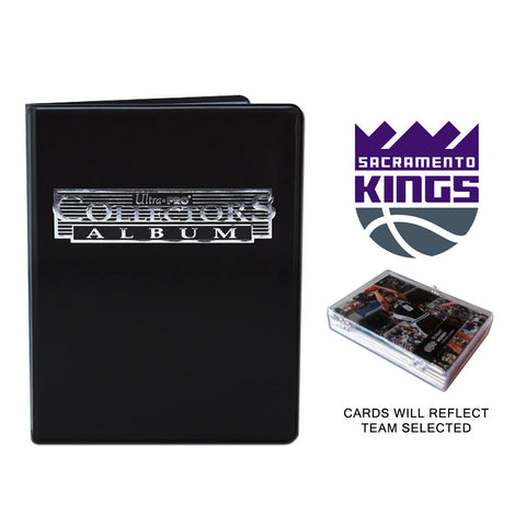 Sacramento Kings Basketball Cards w/ Collector's Mini Binder & Pages