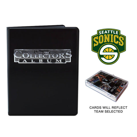 Seattle Supersonics Basketball Cards w/ Collector's Mini Binder & Pages