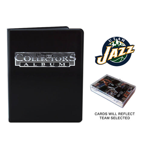 Utah Jazz Basketball Cards w/ Collector's Mini Binder & Pages
