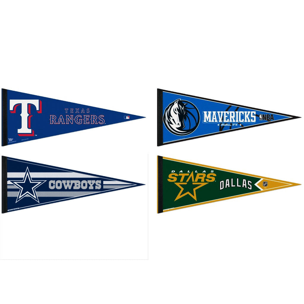 Dallas Pennants: Hometown Collection 4 Pennants