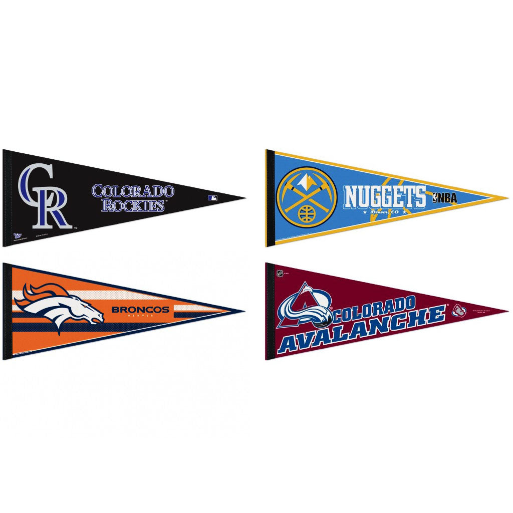 Colorado / Denver Pennants: Hometown Collection 4 Pennants