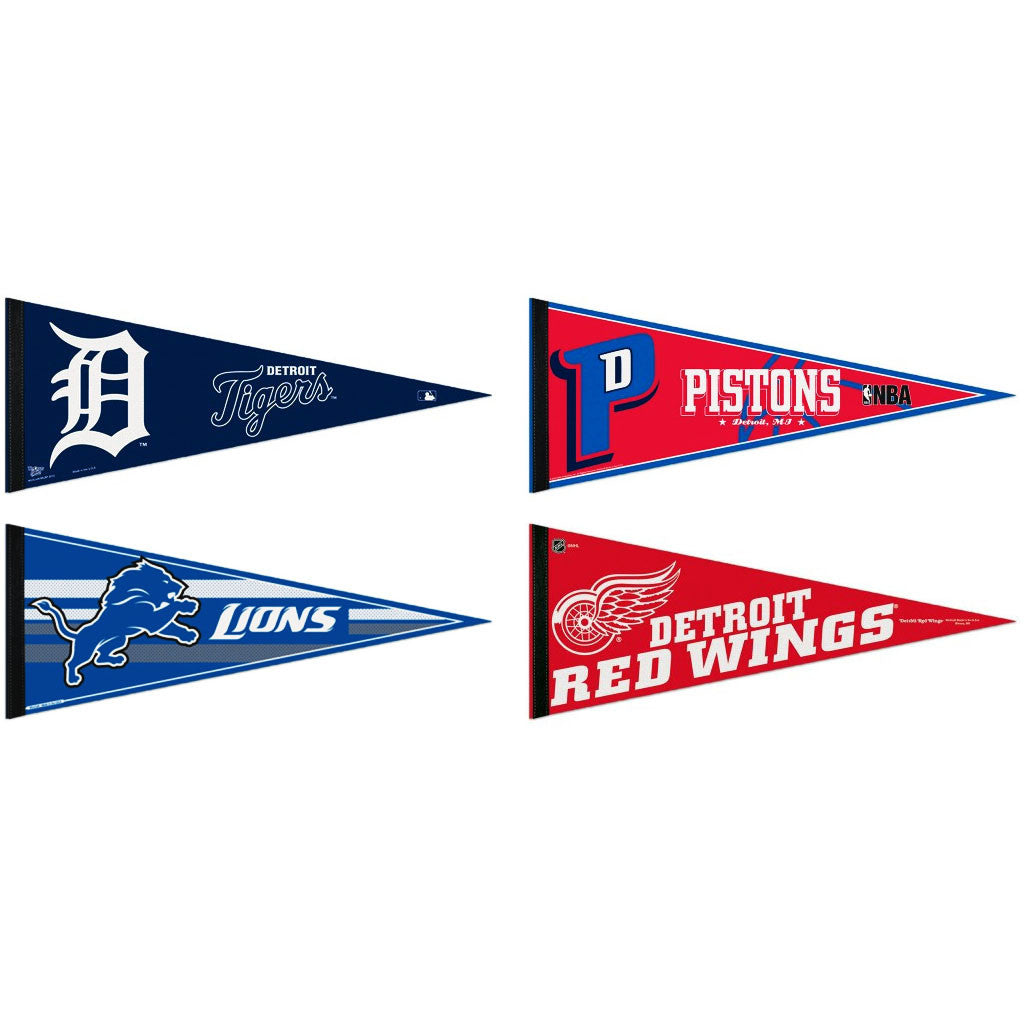 Detroit Pennants: Hometown Collection 4 Pennants