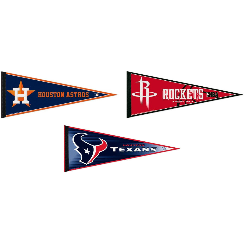 Houston Pennants: Hometown Collection 3 Pennants