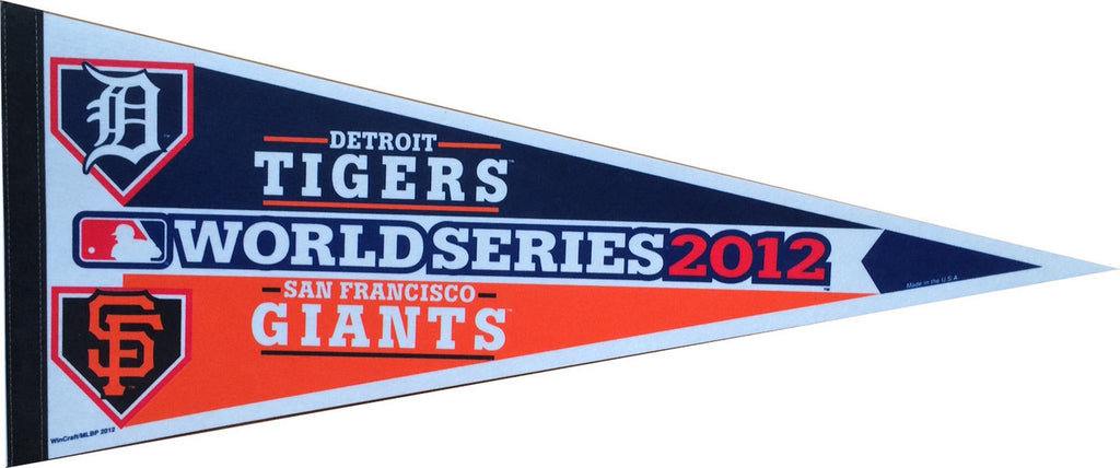 2012 World Series San Francisco Giants vs. Detroit Tigers Dueling Pennant (Out of Print!)