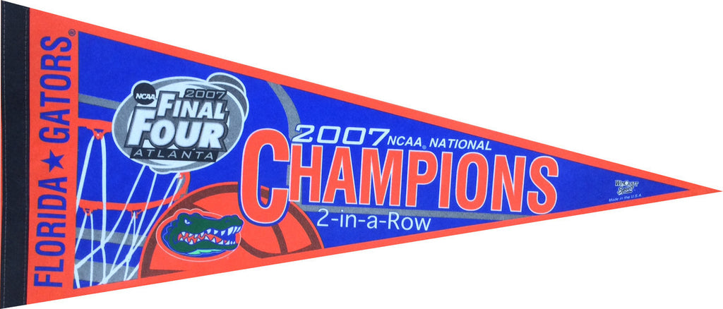 2007 Florida Gators Basketball Champions 2-in-a-Row Pennant (Out of Print!)