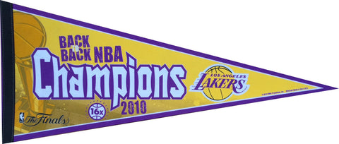 2010 Los Angeles Lakers Back-to-Back NBA Champions Pennant (Out of Print!)