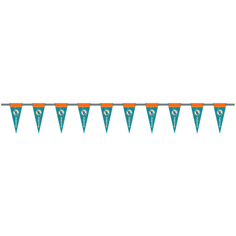 Miami Dolphins 6 Foot Pennant String