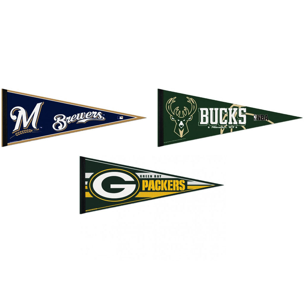 Milwaukee Pennants: Hometown Collection 3 Pennants