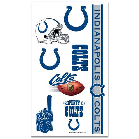 Indianapolis Colts Temporary Tattoo