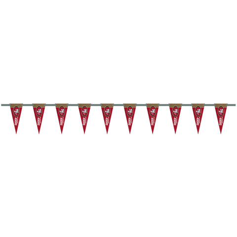 San Francisco 49ers 6 Foot Pennant String