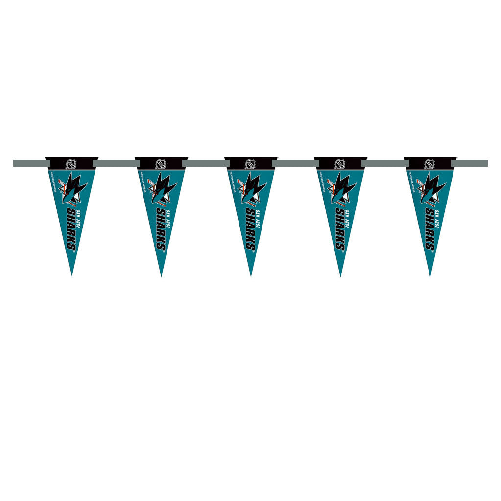San Jose Sharks 3 Foot Pennant String