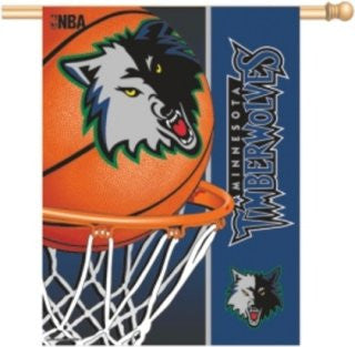 Minnesota Timberwolves Vertical Flag Banner