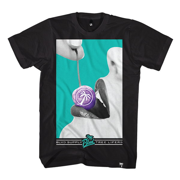 Blvd Supply Cherry Tee - BLVD Supply inc